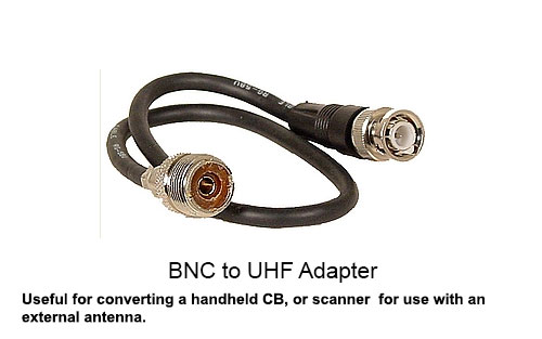 174-3-BNCM-S SO-239 to BNC Female Adapter Cord