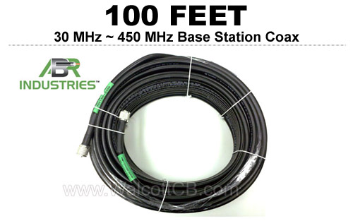 100' 25400F-PL-100 ABR Industries 400UF type 25400F Coax Cable