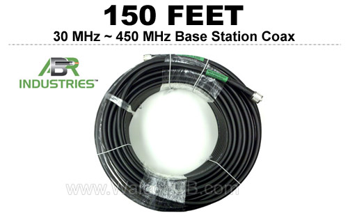 150' 25400F-PL-150 ABR Industries 400UF type 25400F Coax Cable