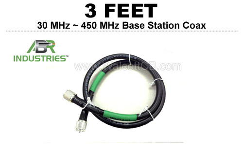 3' 25400F-PL-3 ABR Industries 400UF type 25400F Coax Cable