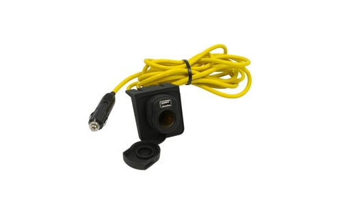 12 foot Extension Cord with Mountable 12-Volt Socket and 2.4A USB Port 305203ECUSB