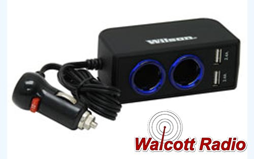 12-Volt Dual 2.4A USB Adapter with 3' Cord - Power up to 4 devices
