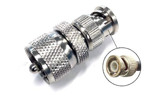 BNC Male to UHF Male (PL-259) Coax Adapter