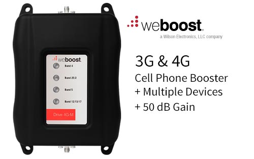WeBoost Mobile Drive 4G-M Cell Phone Booster/Amplifier for Multiple Devices 470108