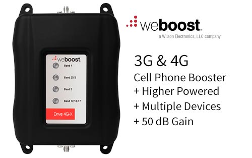 WeBoost Mobile Drive 4G-X High Performance Cell Phone Booster/Amplifier for Multiple Devices 470510