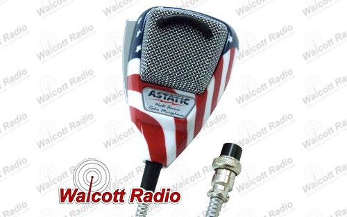 Astatic 636L-FLAG Noise Canceling CB Radio Microphone