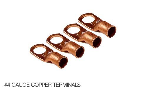 #4 Gauge Copper Power Lug Terminals 906815-4 (4-Pack)