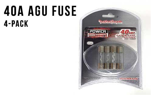 40 Amp AGU Fuses - 4 Pack
