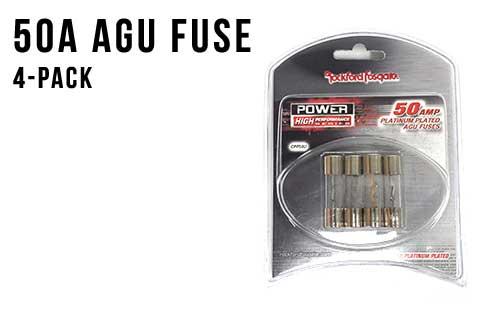 50 Amp AGU Fuses - 4-Pack