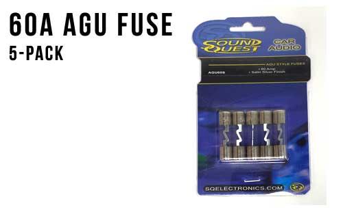 60 Amp AGU Fuses - 5 Pack