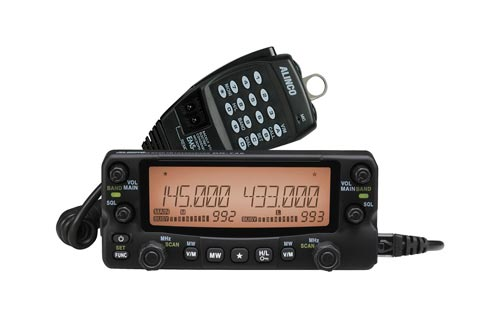 Alinco DR-735T Dualband 2m Meter 144 - 148 MHz 70cm 430 - 450 MHz Radio with Color Changing Faceplat