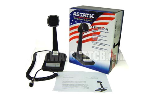 Astatic AST878DM Amplified Base Station Desk Microphone