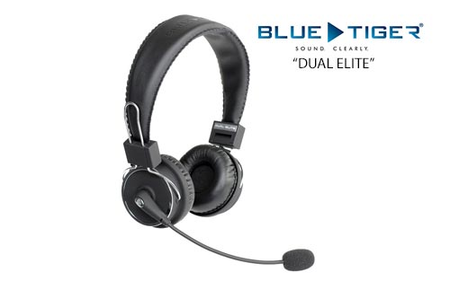 Blue Tiger Dual Elite Wireless Bluetooth Headset with 50 hours Talktime and 1000 Hours Standby