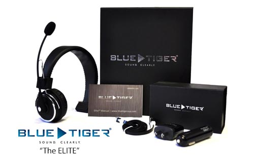 Blue Tiger Elite Bluetooth Headset with 34 hours Talktime and 700 Hours Standby