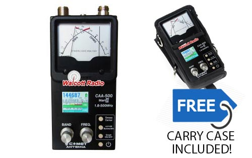 Comet CAA-500 Mark II Commercial Grade SWR/Impedance Analyzer w Free Carry Case
