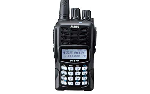 Alinco DJ500T Dual Band 144 - 148 MHz and 420 - 450 MHz FM Handheld Ham Radio