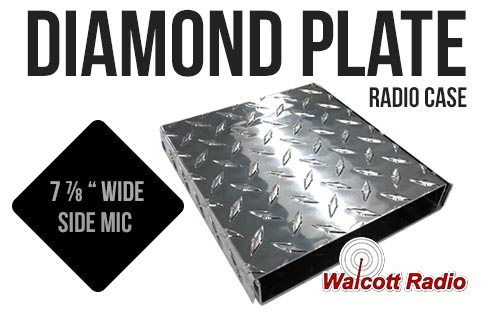 Diamond Plate Replacement Radio Case for DX Sized Radios - SIDE MIC