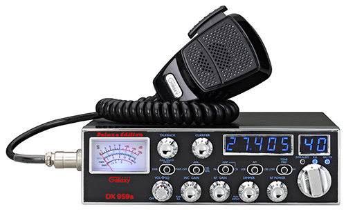 Galaxy DX959B Deluxe Edition CB Radio with SSB and Blue Lights with EL Faceplate Illumination
