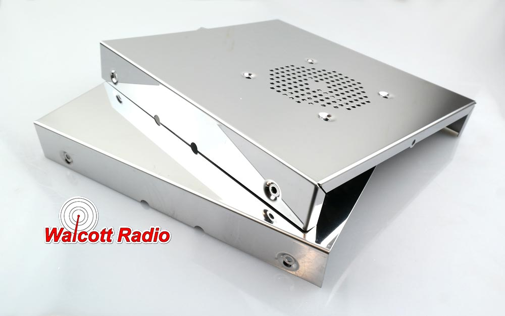 Stainless Steel Radio Case for 10 Meter radios with front microphone