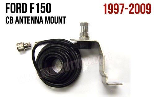 Ford F150 Hood/Fender CB Antenna Mount F1L