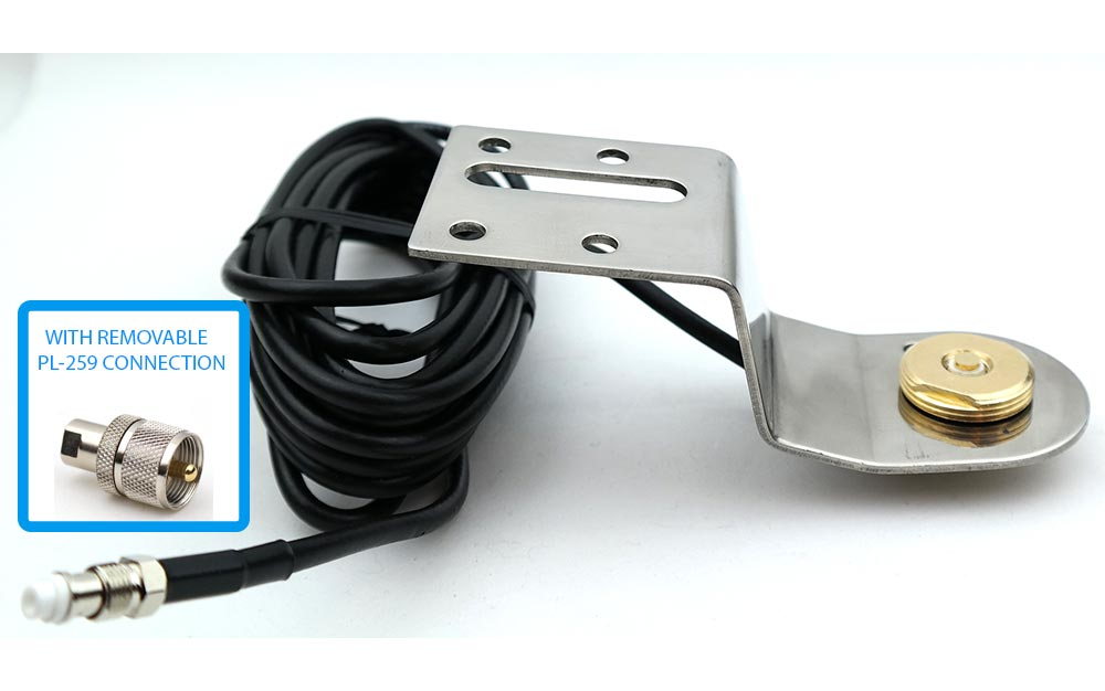 NMO Antenna Mount and Coax for Ford F250 11 - 17 F350 12 - 17 AND F450 2013