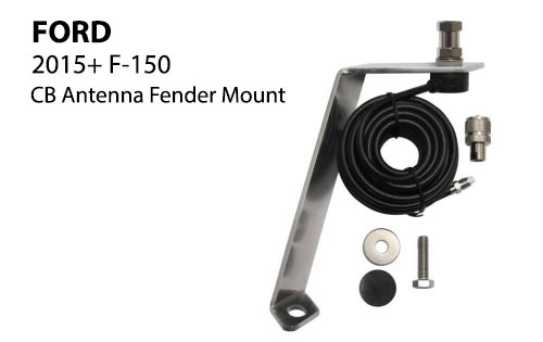 Ford Fender CB Antenna Mount for 2015+ F150 Trucks