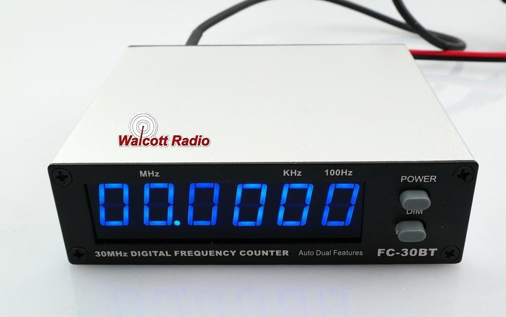 Blue Frequency Counter for 10 and 11 Meter Radios