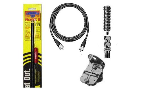 Firestik FS464A8AB 4' Single Antenna Kit (Black Antenna)