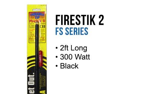 Firestik FS2B 2' Hand Tune Fiberglass CB Antenna - BLACK