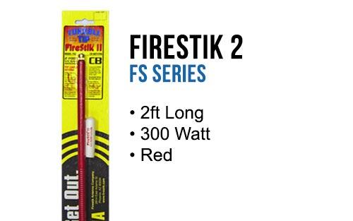 Firestik FS2R 2' Hand Tune Fiberglass CB Antenna - RED