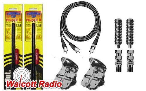 Firestik FS-364A9AB 3 Foot Dual CB Antenna Kit - Black