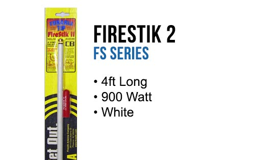 Firestik FS4W 4' Hand Tune Fiberglass CB Antenna - WHITE