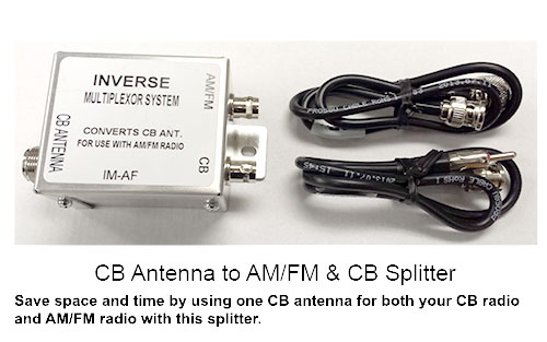 IMAF CB antenna to AM/FM Antenna Splitter