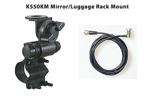 Diamond Antenna K550km Mirror Luggage Rack Antenna Mount