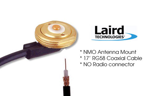 Laird Tech MB8 NMO Antenna mount with 17ft RG58 Coax