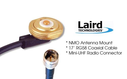Laird Tech MB8MI NMO Antenna Mount with 17ft RG58 Coax Mini UHF