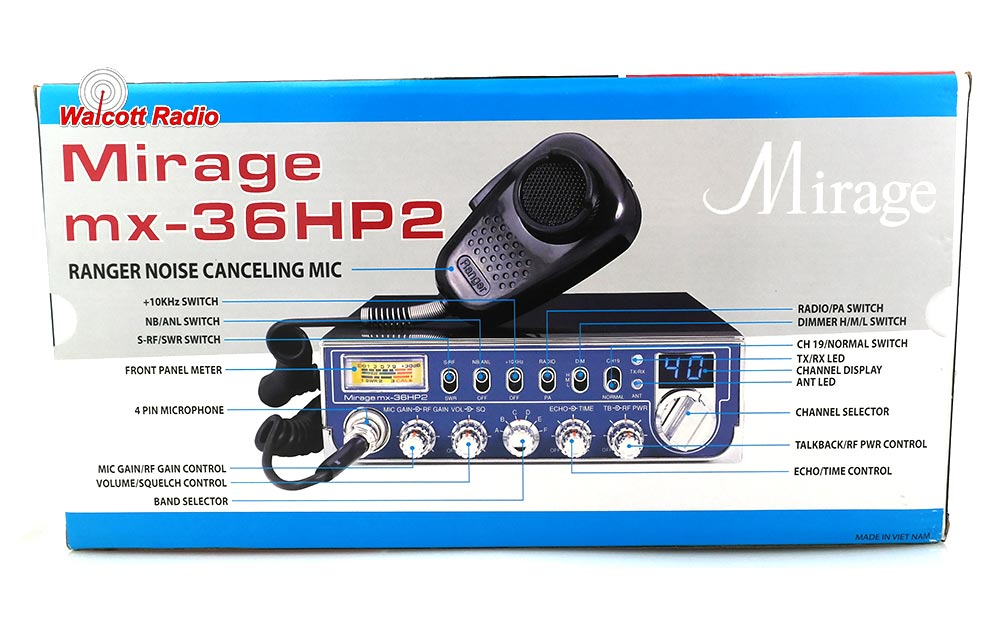 MX36HP2 Mirage CB Radio | Mirage 10 Meter Radio