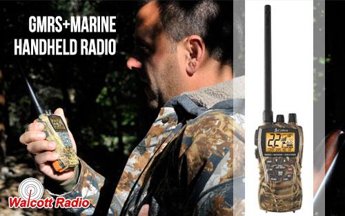 Cobra MR HH450 CAMO GMRS + Marine VHF Handheld