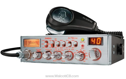 Uniden PC78ELITE Illuminated CB Radio W. SWR Meter and Weather
