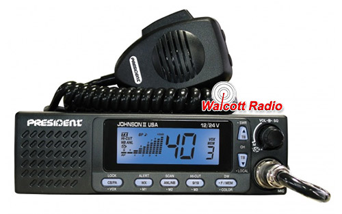 President Johnson II 12/24 Volt 40 Channel CB Radio with SWR Meter