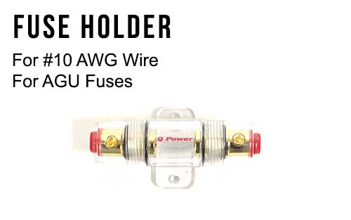 AGU Fuse Holder for #10 AWG Wire