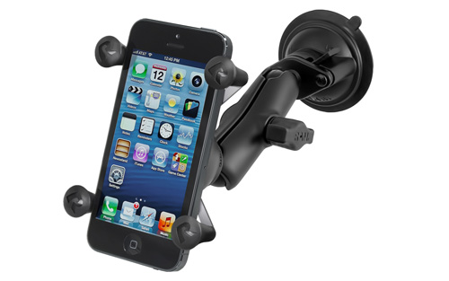 RAM X-Grip RAMB166UN7 Twist Lock Suction Cup Mount with Universal X-Grip Cell/iPhone Holder