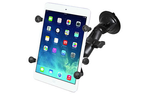 RAM RAM-B-166-UN8 Suction Cup Mount with X-Grip II Holder for Small Tablets