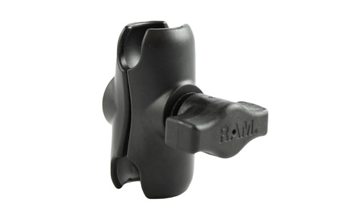 RAM-MOUNT Short Double Socket Arm for 1 in Ball Bases RAMB201UA