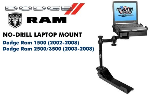 RAMVB104SW1 No-Drill Laptop Mount for Dodge RAM
