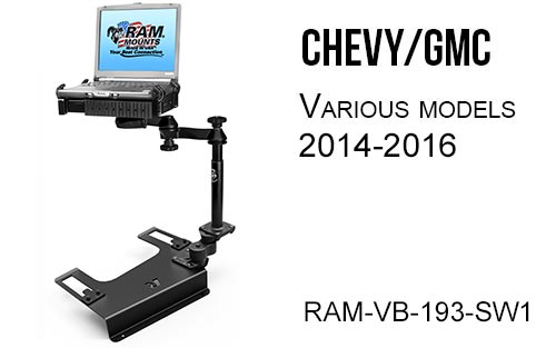 RAM-MOUNT RAM-VB-193-SW1 Chevy GMC Laptop Mount various models 2014-2016