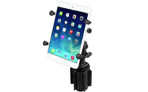 RAM RAP2993UN8 RAM-A-CAN II Cup Holder Mount with X-Grip II Holder for Small Tablets