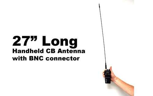 27 in Flexible Handheld CB Radio Antenna