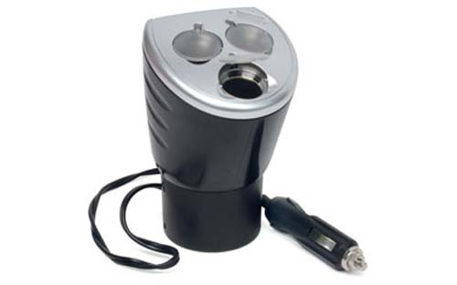 RoadPro  4-In-1 12-Volt Power Outlet with Three 12-Volt Sockets and 1 USB Port