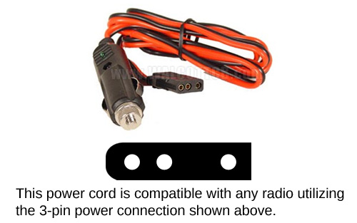 RPPS220 Power Cord  With Cigarette Plug (Most Common)